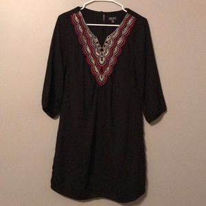 Black 3/4 length sleeve dress